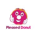 高興的甜甜圈Logo