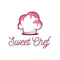 可愛的廚師Logo