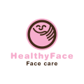 健康的臉Logo