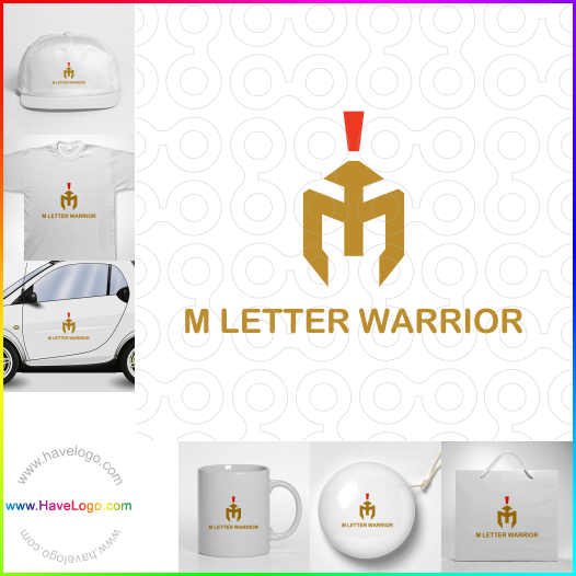 M Letter Warrior  logo - ID:65473