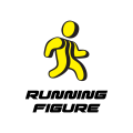 running figure  logo