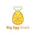 大蛋的小吃Logo