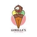 大猩猩的超大冰淇淋Logo