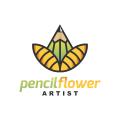 Pencil Flower  logo