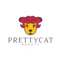 漂亮的貓Logo