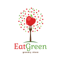 吃綠色食品雜貨店Logo