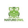 自然的貓頭鷹Logo