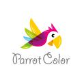 彩色鸚鵡Logo