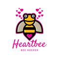 heartbee蜜蜂門將Logo