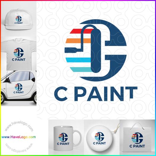 字母C的油漆logo設計 - ID:65571