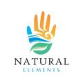自然元素Logo