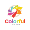 Colorful life circle  logo