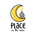 月球上的logo
