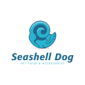 Seashell Dog  logo