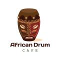 African Drum  logo