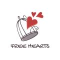 Free hearts  logo