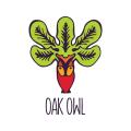 橡樹貓頭鷹Logo
