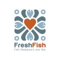 新鮮的魚餐廳和酒吧Logo