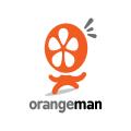 橙色的人Logo