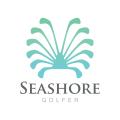 Seashore Golfer  Logo Design