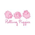 滾動的小豬Logo