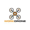 工作的無人機Logo