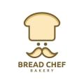 麵包師傅的麵包店Logo