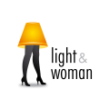 Light and Woman  logo