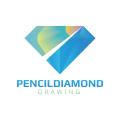 Pencil Diamond  logo