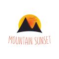 山的日落Logo