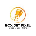 Box Jet PixelLogo
