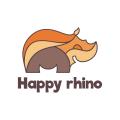 快樂的犀牛Logo