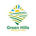 綠色的山Logo