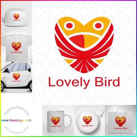 可愛的小鳥logo設計 - ID:65565