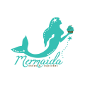 mermaida蛋糕和蛋糕Logo