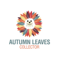 秋天的落葉Logo