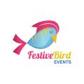 喜慶的鳥Logo