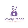 可愛的大熊貓Logo