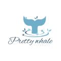 Pretty whale  logo