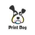 打印的狗Logo