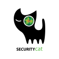 安全的貓Logo