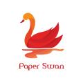 Paper swan  logo