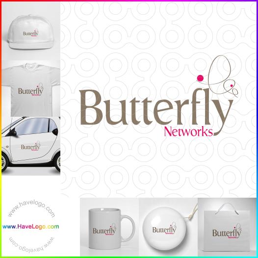 蝴蝶logo設計 - ID:136