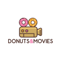 Donuts and Movies  logo