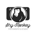 害羞的猴子Logo