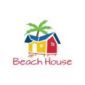海灘的房子Logo