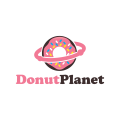 甜甜圈的行星Logo