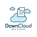 Down Cloud Data Storage  logo