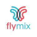 Flymix Butterfly  logo