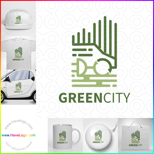 綠色城市logo設計 - ID:65568